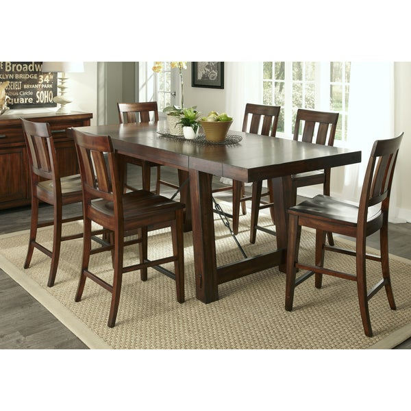Marvelous Tahoe Rustic Furniture #10: Tahoe Rustic Mahogany 7-piece Gathering Dinette Set