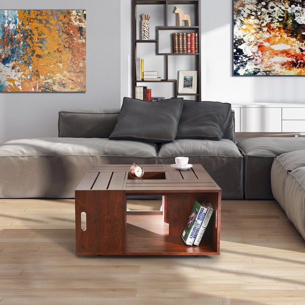 Furniture Of America U0026#x27;The Crateu0026#x27; Square Coffee Table With