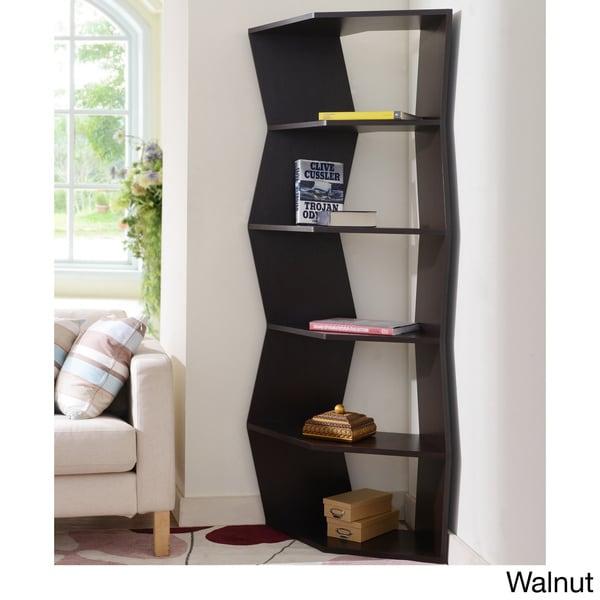 Furniture of America New Journey 6-shelf Contemporary Corner Display Bookcase Unit