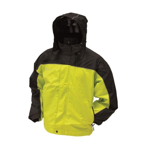 Frogg Toggs Women's Safety Green/ Black Highway Jacket