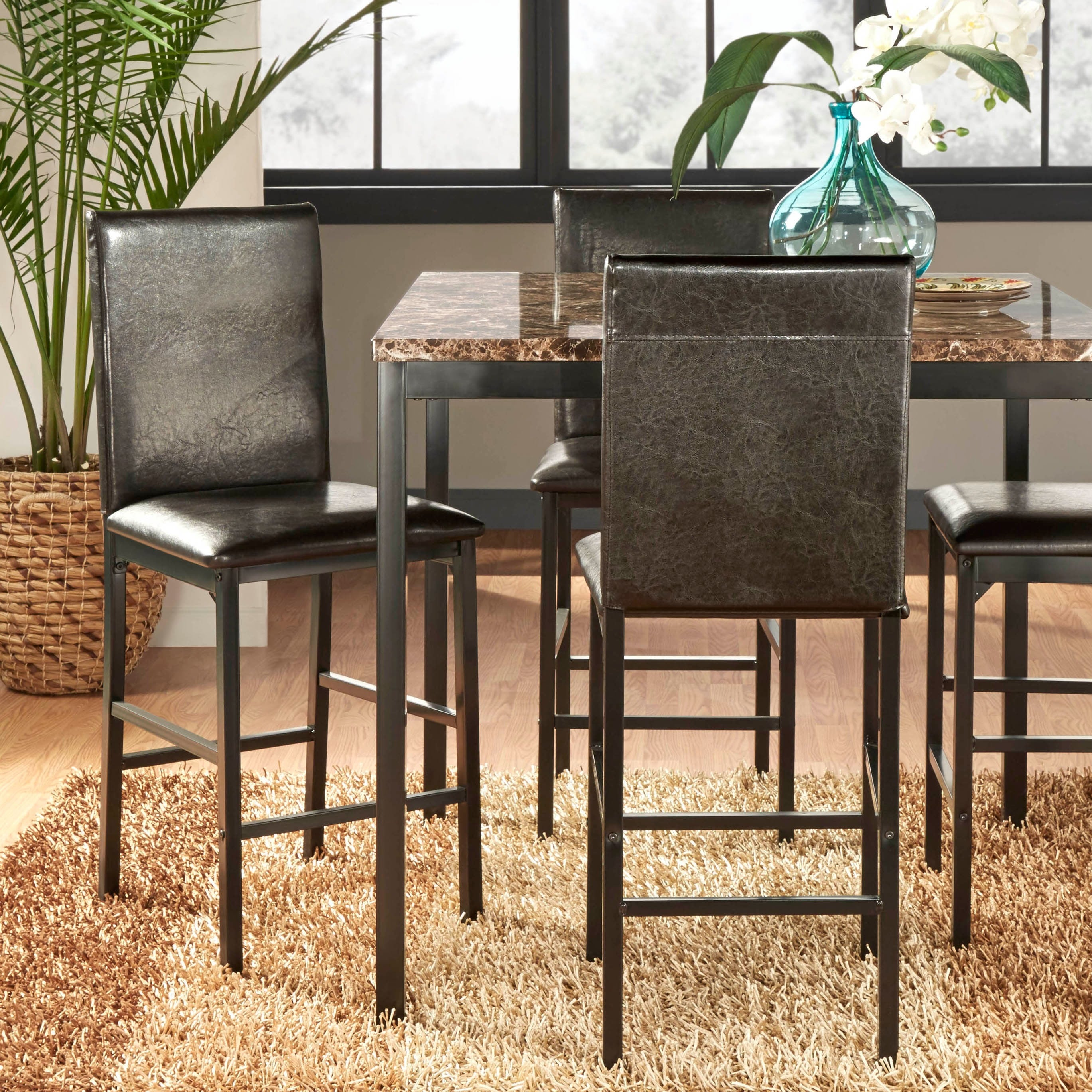 Peachy Darcy Metal Upholstered Counter Height Dining Chairs Set Of 4 By Inspire Q Bold Pdpeps Interior Chair Design Pdpepsorg
