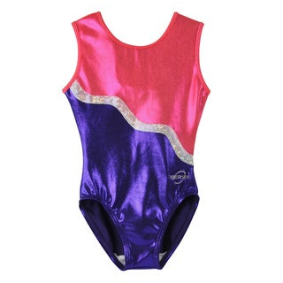 Obersee Kids Purple Ribbon Gymnastics Leotard
