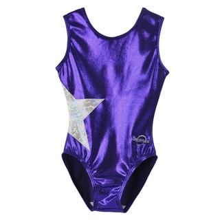 Obersee Kids Purple Star Gymnastics Leotard