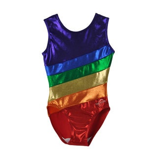 Obersee Kids Rainbow Gymnastics Leotard
