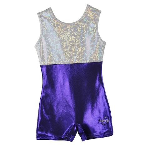 Obersee Girl's Girls Gymnastics Biketard - Purple