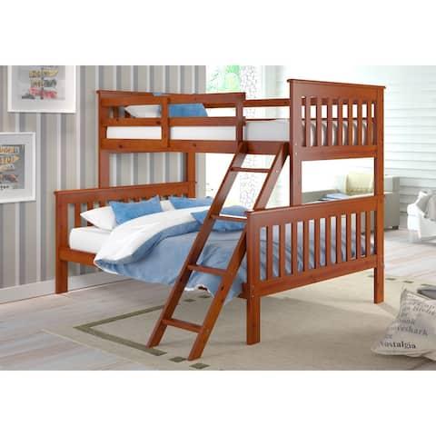 Donco Kids Mission Tilt Ladder Twin / Full Bunk Bed