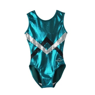 Obersee Kids Green Chevron Gymnastics Leotard