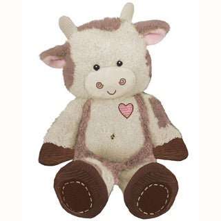 First & Main Plush Brown Cow