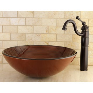 Red Glass Vessel Bathroom Sink
