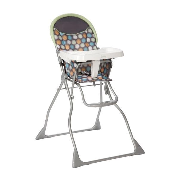 cosco slim fold high chair in ikat dots free shipping