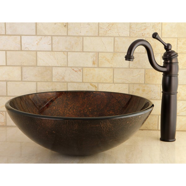 Bronze Vessel Sink : Amber Bronze Vessel Bathroom Sink - Free Shipping Today - Overstock ...