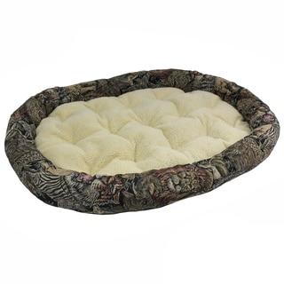 Safari Tapestry Bolster Pet Bed (50x36)