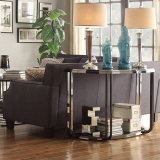 Edison Black Nickel-plated Modern Sofa Table by iNSPIRE Q Bold