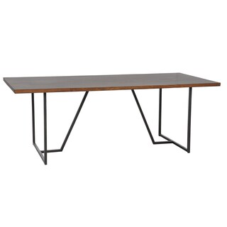 Kosas Home Wabby Dark Walnut Dining Table