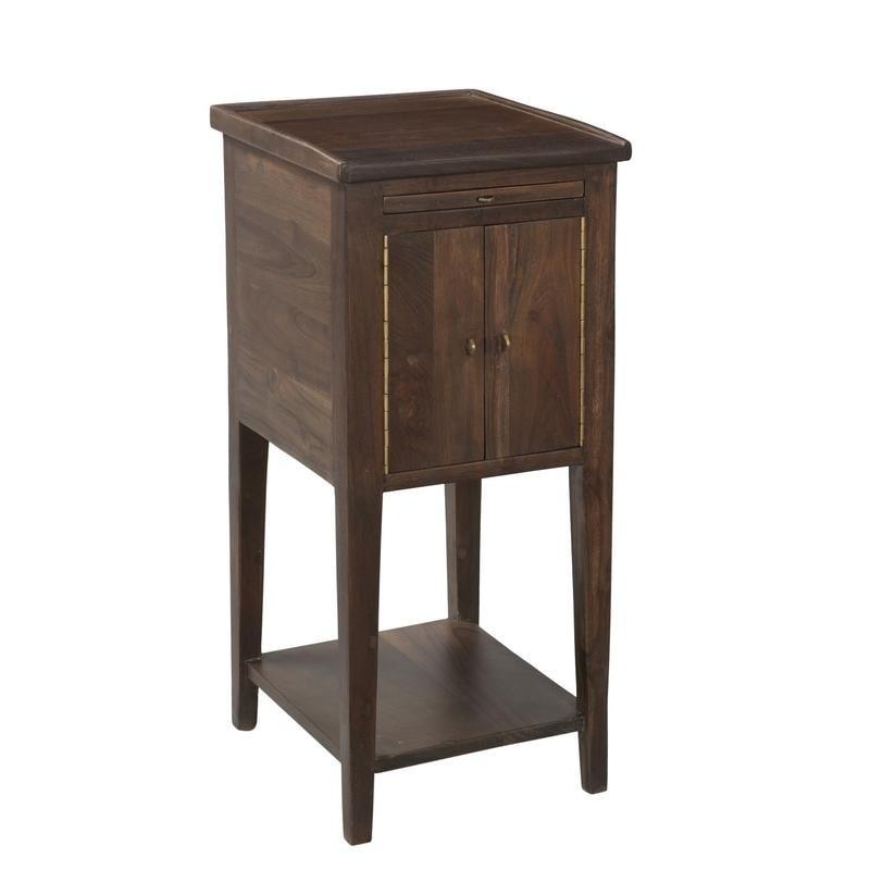 Organic Modern Smoky Teak Side Table (Smokey Teak), Brown...