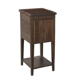 Organic Modern Smoky Teak Side Table