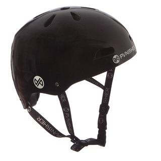 Punisher Skateboards Youth 13-vent Metallic Flake Black Dual Safety Certified BMX Bike and Skateboard Helmet, Size Medium