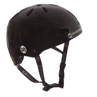 Punisher Skateboards Youth 13-vent Metallic Flake Black Dual Safety Certified BMX Bike and Skateboard Helmet, Size Medium