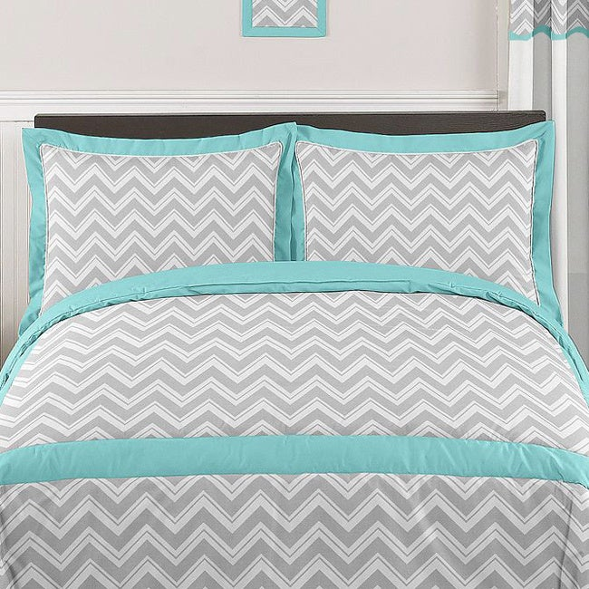 JoJo Designs Chevron Zigzag 3-piece Comforter Set (As Is ...