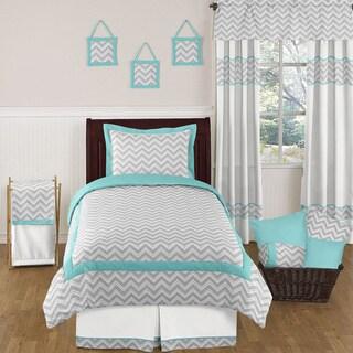 Shop Sweet Jojo Designs Turquoise White Chevron Zigzag