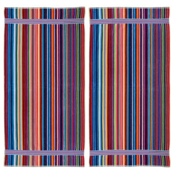 Candy Stripe Velour Beach Towel (Set of 2)