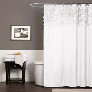 Lush Decor Lillian White Shower Curtain