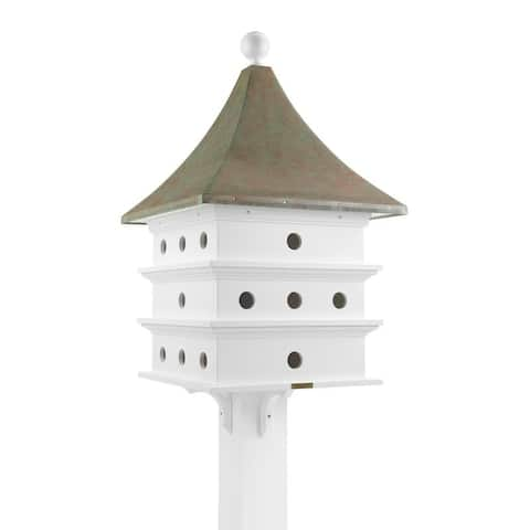 Lazy Hill Farm Designs Ultimate Martin Bird House with Blue Verde Copper Roof