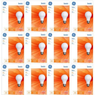 GE '13255' 40-watt A19 General Purpose Light Bulbs (Pack of 12)