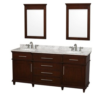 Wyndham Collection Berkeley Dark Chestnut 72-inch Double Vanity