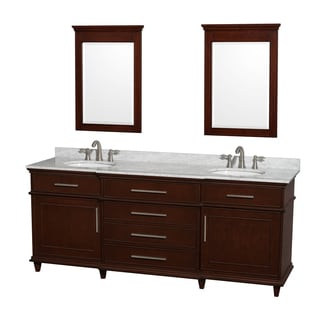 Wyndham Collection Berkeley Dark Chestnut 80-inch Double Vanity