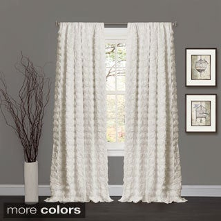 Lush Decor Emma Rosette 84 inch Curtain Panel - 54 x 84