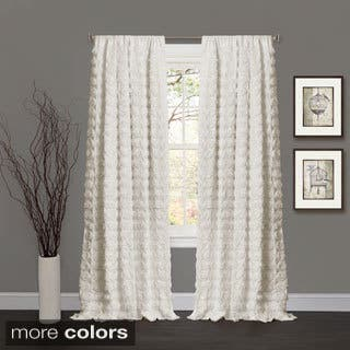 Lush Decor Emma Rosette 84 inch Curtain Panel - 54 x 84|https://ak1.ostkcdn.com/images/products/8753974/P15997925.jpg?impolicy=medium