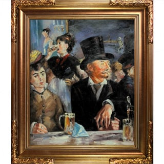 Edouard Manet 'Cafe Concert' Hand-painted Framed Canvas Art