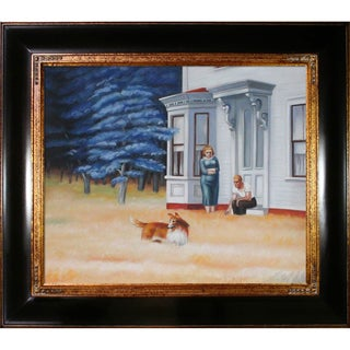 Edward Hopper 'Cape Cod Evening' Hand-painted Framed Canvas Art