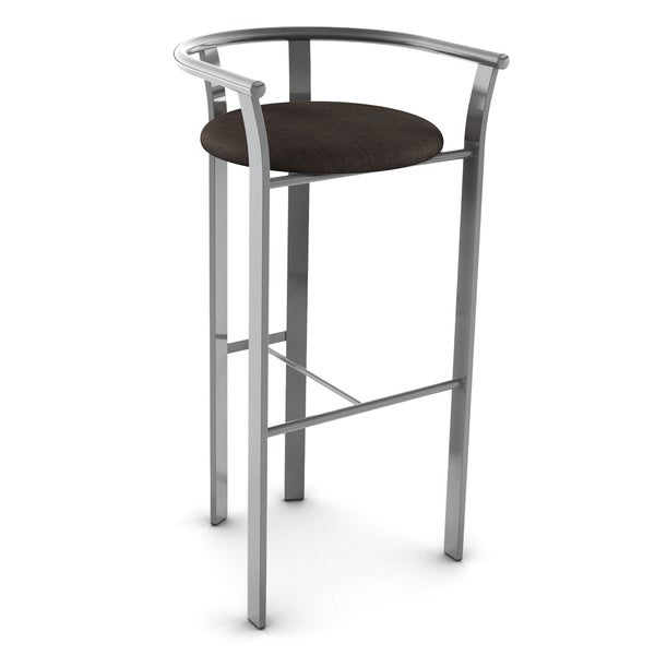 amisco lolo grey finish 26inch bar stool - Amisco Bar Stools