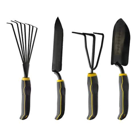 Stanley 4-piece Black/ Yellow Garden Digging Kit
