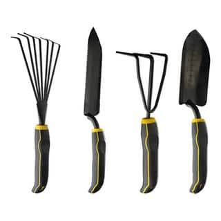 Stanley 4-piece Black/ Yellow Garden Digging Kit|https://ak1.ostkcdn.com/images/products/8754039/Stanley-4-piece-Black-Yellow-Garden-Digging-Kit-P15997957.jpg?impolicy=medium