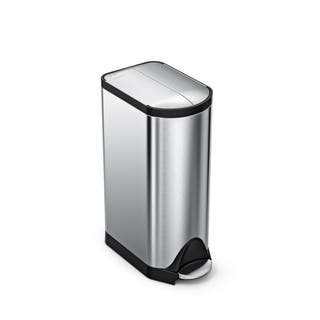 simplehuman Butterfly Step Trash Can, Fingerprint-Proof Brushed Stainless Steel, 30 Liters /8 Gallons|https://ak1.ostkcdn.com/images/products/8754049/simplehuman-Brushed-Stainless-Steel-Butterfly-Step-Can-P15997966.jpg?impolicy=medium