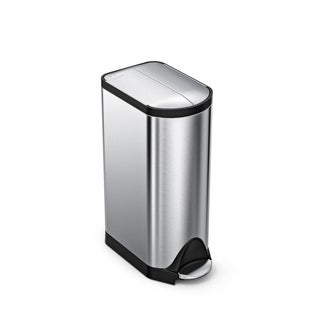 simplehuman Butterfly Step Trash Can, Fingerprint-Proof Brushed Stainless Steel, 30 Liters /8 Gallons