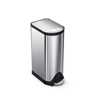 Simplehuman Butterfly Step Trash Can, Fingerprint Proof Brushed Stainless  Steel, 30 Liters /
