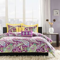 The Curated Nomad Stanyan Purple Paisley Comforter Set