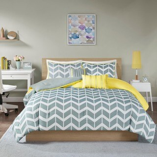 Intelligent Design Elle Yellow Comforter Set