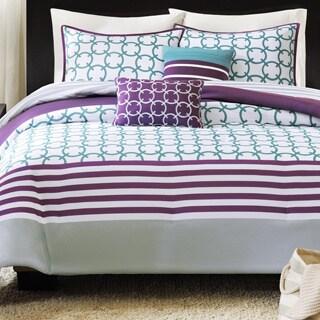 Intelligent Design Lacey Teal Comforter Set