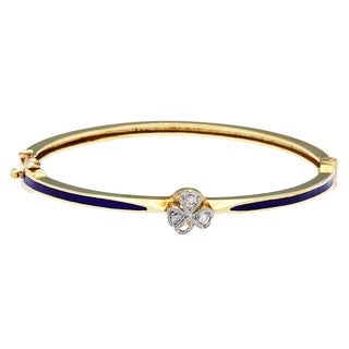 Pre-owned 14k Yellow Gold 1/5ct TDW Estate Bangle Bracelet (K-L, I1-I2)