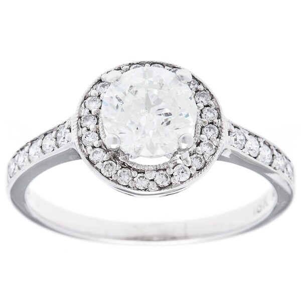 Pre-owned 18k White Gold 1 1/3ct TDW Estate Engagement Ring (H-I, I2-I3)