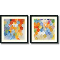 Framed Art Print 'Cubitz  - set of 2' by Noah 24 x 24-inch Each
