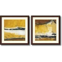 Framed Art Print 'Venture I & II - set of 2' by Niro Vasali 33 x 33-inch Each