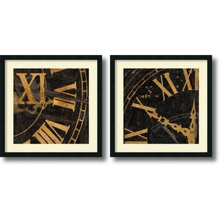 Russell Brennan 'Roman Numerals' 26 x 26-inch Framed Art Print (Set of 2)