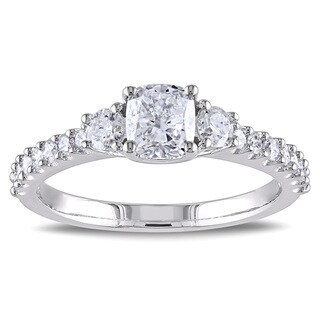 Miadora Signature Collection 14k White Gold 1 1/5ct TDW Cushion Cut Diamond Ring (G-H, I1-I2)