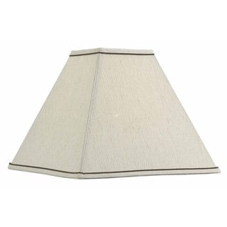 Design Match 14-inch Square Taupe Lamp Shade